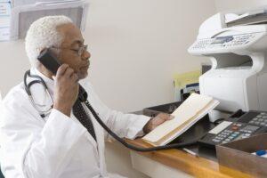 doctor receiving fax spam